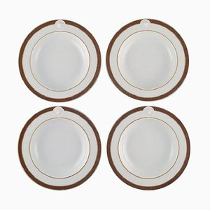 Medallic Meandre D'or Deep Plates by Gianni Versace for Rosenthal, Set of 4