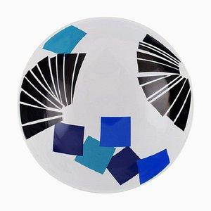 Collage Schale aus Fayence von Anne Marie Trolle für Royal Copenhagen