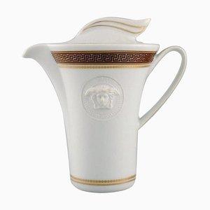 Pot à Moka Medallic Meander Doré par Gianni Versace pour Rosenthal