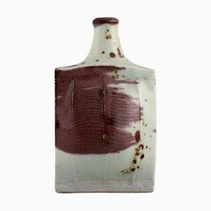 Vase aus glasierter Keramik von European Studio Ceramicist, spätes 20. Jh
