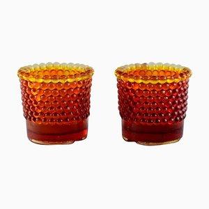 Candeleros Pearl para lámparas de té de Monica Bratt Rijmyre, años 50. Juego de 2
