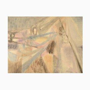 Albert Ferenz, In the Mountains, Germania, Acquarello su carta