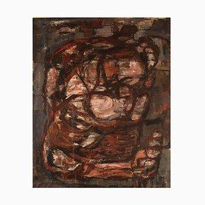 Pippin Henderson, Composición abstracta, Dinamarca, óleo sobre lienzo