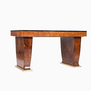 Art Deco Nussholz Schreibtisch