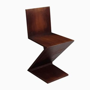 Zigzag Chair by Gerrit Thomas Rietveld for Cassina