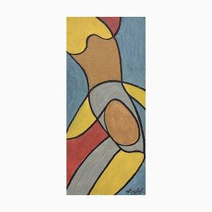Composición sobre fondo azul, Edgar Stoëbel, años 60