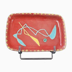 Keramik Tablett von Charles René Neveux für Cerenne Workshop, 1950er