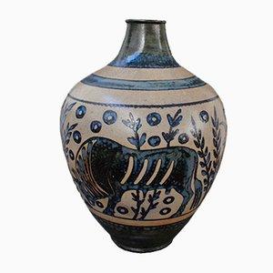 Vase Antique en Céramique par Primavera, France, Début 20ème Siècle