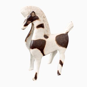 Keramik Pferdeskulptur von Bruno Gambone, 1980er