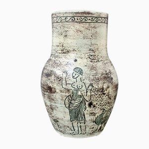 Vase à Fleurs Mid-Century en Céramique par Jacques Blin, France, 1981