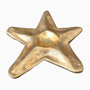 Brass Trivet in Starfish Motif by David Marshall, 1990s