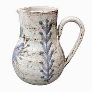 Vintage French Ceramic Pitcher by Gustave Reynaud for Le Mûrier, 1960s