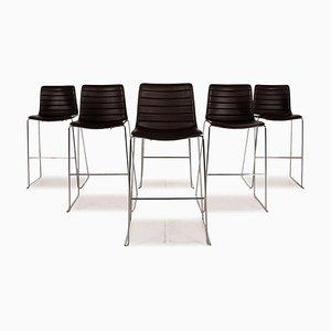 Catifa 46 Leder Stuhl Set von Arper, 6er Set