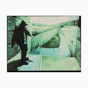 Charles Moody, 1979, óleo sobre contrachapado