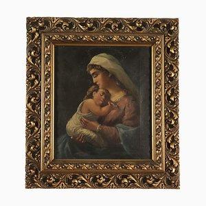 Pintura de la Virgen con el niño, siglo XIX