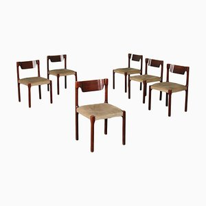 Italian Chairs, 1960s, Set of 6