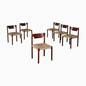 Italienische Stühle, 1960er, 6er Set