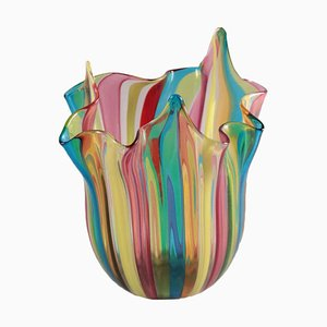 Murano Glas Taschentuch Vase