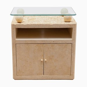 Small Sideboard in Faux Marble, Italy, 1980s