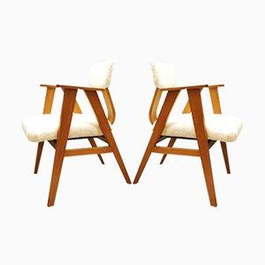 Niederländische Vintage Armlehnstühle von Stoelen für Pastoe, 1950er, 2er Set
