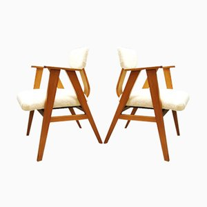 Vintage Dutch Armchairs by Stoelen for Pastoe, 1950s, Set of 2