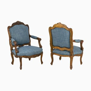 Louis XV Style Armchairs, 1880s, Set of 2