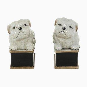 Kleine Hunde aus Seladon-Porzellan, 1950er, 2er Set