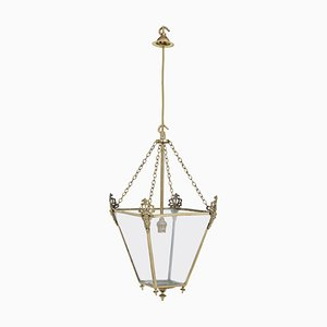 Late 19th Century Gilded and Glazed Hanging Lantern