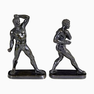 19th Century Bronze Athlete Figures from Canova, Set of 2