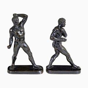 Bronzefiguren von Canova, 19. Jh., 2er Set