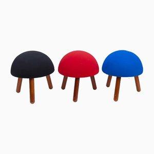 Sgabelli a forma di fungo, anni '80, set di 3