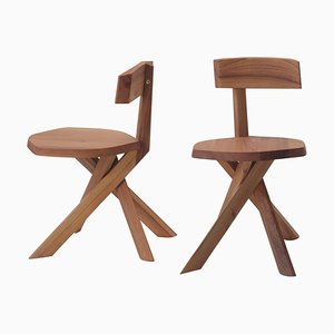 S34A Wood Chair by Pierre Chapo