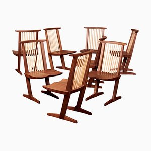Conoid Dining Chairs by George Nakashima Studio, USA, 2021, Set of 8