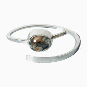 Silber und Moos Achat Armband von Rey Urban