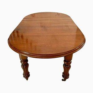Table de Salle à Manger Victorienne Antique en Acajou