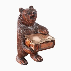 Quality Antique Carved Black Forest Bear