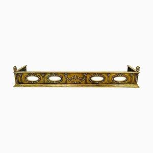 Quality Antique Victorian Ornate Brass Fender