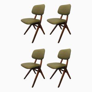 Scissor Chairs by Louis Van Teeffelen for Webe, 1960s, Set of 4