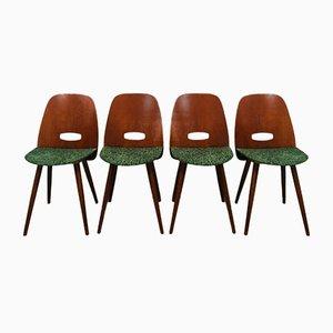 Lollipop Dining Chairs by Frantisek Jirak for Tatra, 1960s, Set of 4
