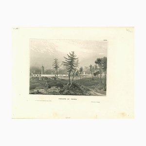 Unknown, Ancient View of Peking in China, Original Lithograph, Early 19th-Century