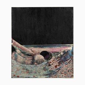Ruggero Savinio, Giochi d'Acqua (Water Games), Oil Painting on Canvas, 1975