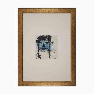 Sergio Barletta, Blue Face, Original Lithograph, 1960