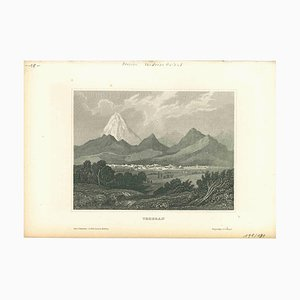 Unknown, Ancient View of Tehran, Original Lithograph, Early 19th-Century