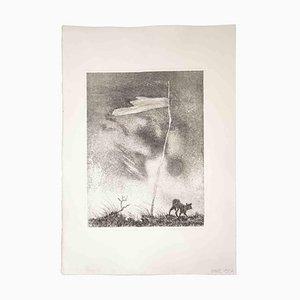 Leo Guida, Lonely Flag, Original Radierung und Aquatinta, 1970er