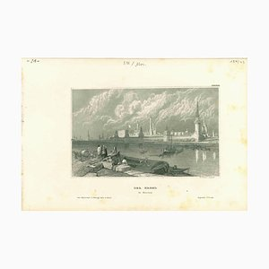 Desconocido, Der Kreml, Litografía original sobre papel, década de 1850
