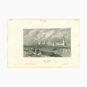 Unbekannt, Der Kreml, Original Lithografie auf Papier, 1850er