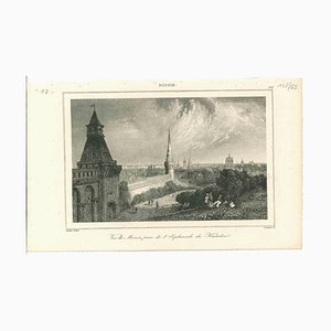Unknown, Ancient View of Moscow, Original Lithograph on Paper, 1850s