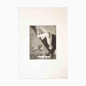 Leo Guida, Reverse Nude, Original Etching and Aquatint, 1970s