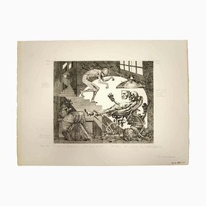 Leo Guida, It's Not Dead Yet, Original Black and White Etching, 1975