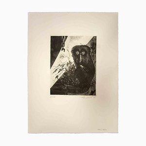Leo Guida, The Owl, Original Etching, 1972